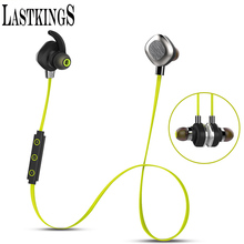 Lastkings bluetooth headset wireless earphone microphone for phone stereo sport waterproof magnetic earbuds