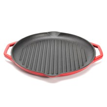 Nonstick Cast Iron Round Grill Fry Pan Griddle 32cm Pot Induction Gas Stove Applicable Cookware Kitchen Tools Accessories(China)