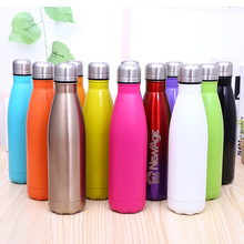 Buy Colorful Vacuum Stainless Steel Water Bottle Camping Sports Bottles Creative Straight Bowling Drinking Water Garrafa Cycling for $13.49 in AliExpress store