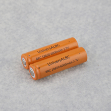 2PCS (1 Pair ) Rechargeable 6000mAh Unprotected 3.7V Lithium Ion Batteries For LED Flashlights Headlights 18650 Battery Pack