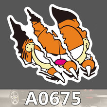 A0675 Garfield Sharp Claw Waterproof Sticker Cool Laptop Luggage Fridge Skateboard Graffiti Cartoon Notebook Stickers