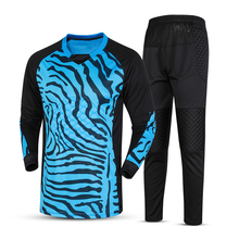 New Kids Soccer Goalkeeper Kits Men's Long Sleeve Doorkeeper Suit Sponge Goal Keeper Pants Goalkeeper Football Training Jerseys