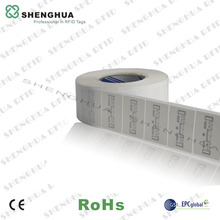 1000pcs/roll--ISO 18000-6C RFID Tags 860-960mhz RFID PET Labels for Item Management