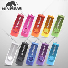 2016 Miniseas Usb Flash Drive Real Capacity Colorful Rotate Key 8G/16G/32G/64G Memory USB Stick Pen Drive Pendrive For PC