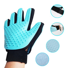 Glove Combing For Dogs Cleaning Pet Hair Brush For Dog and Cat Grooming Bath Finger Glove for remove hair from domestic 40(China)