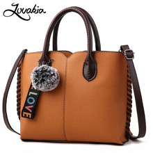 LOVAKIA leather bags handbags women famous brands big casual women bag tote spanish brand shoulder bag ladies large bolsos mujer(China)