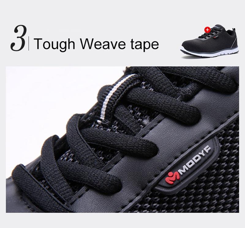 MODYF Men Safety Steel Toe Work Shoes Lightweight Breathable Casual Footwear 12