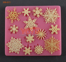new product free shipping usa snow flake silicone mold christmas molds cake decorating tools cake mold for fondant