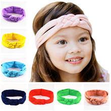 12pcs/lot 12colors Fashionable Girls Top Turban Tie Knot Headbands for Kids  DIY Crafts Hair Accessories