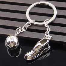 Metal Keychain Football Key chain New High Quality Soccer Shoes and Football Car Key Ring Gift Metal Bag Keychain #17075-1