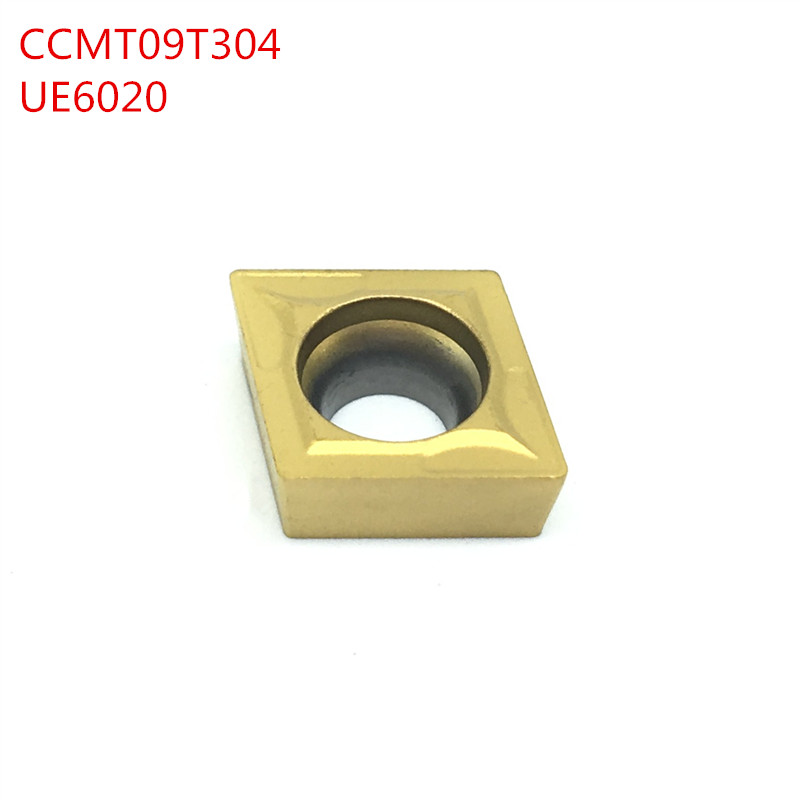 10PCS CCMT09T304 CCMT32.51 UE6020 External Turning Tools Carbide insert Lathe cutter Tool Tokarnyy turning insert (China)