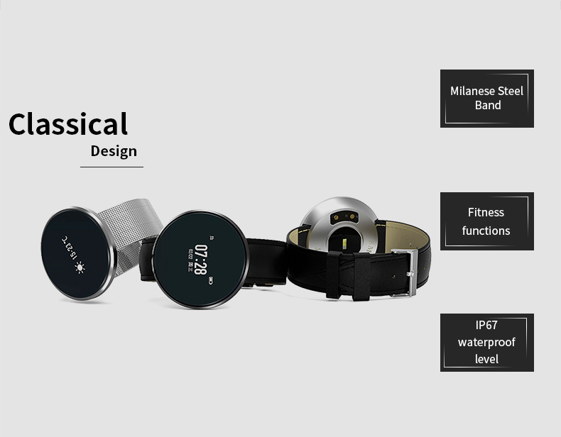 Vecdory Smart Band Bluetooth Smart Wristband Sports Heart Rate Smart Band Fitness Tracker for IOS Android Phones