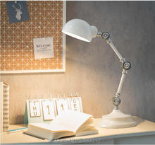 Nordic Style LED  Metal Robot Table Lamp Swing Arm Desk Reading Desk Lamp Bedside Lamp High Quality Desk Lights