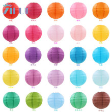 "Zilue (5pcs/lot)6""-16""(10-15-20-25-30-40cm)Decorative Paper Lampion Ball Festival Chinese Paper Lantern Wedding Party Decoration(China)"