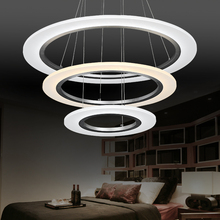 Modern LED acrylic Chandelier Lights Lamp For Living Room 3 rings Chandeliers Lighting Pendant Hanging Ceiling Fixtures