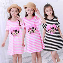 2017 summer girls dresses kids pajamas polyester nightgowns sleepwear clothes