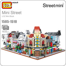 LOZ Blocks House Mini Street View Building Block Set Plastic Brick Toy Store Creator City Assembly Square Designer Kid 1505-1510