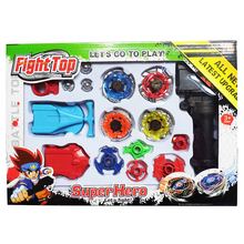 Alloy Beyblade Toy Metal Spinning Top Beyblade Sets Fusion 4 Gyro Fight Master Beyblade Launcher Gyro Toys for kids Gifts
