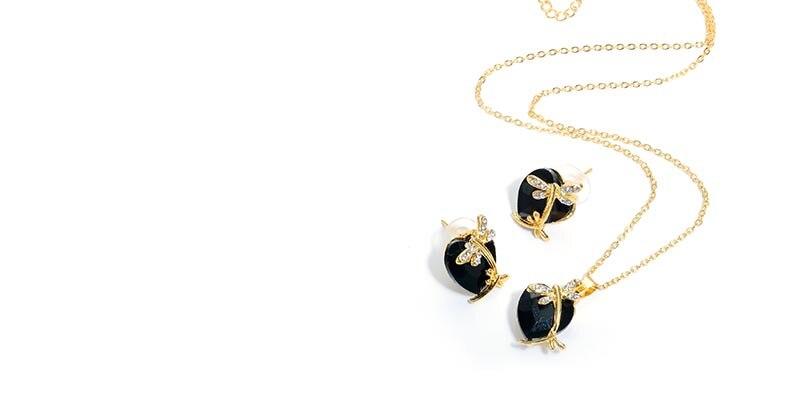 AYAYOO Jewelry Sets Women Gold Color African Beads Jewelry Set Dubai Bridal Luxury Wedding Fashion Necklace Jewellery (5)