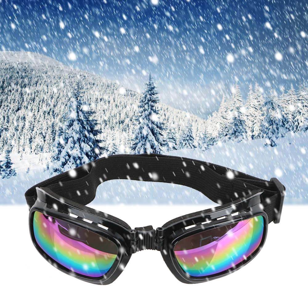 Sky Sunglasses UV Protective Colorful Motorcycle Goggles Dust Proof Clear White