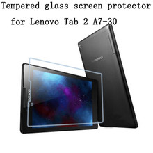 Tempered Glass Screen Protector Film for Lenovo Tab 2 A7-30 A7-30F+ Alcohol Cloth + Dust Absorber(China)