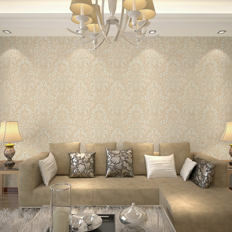 New 10m*53cm High-grade vintage European non-woven fabric wallpaper 3 d sitting room bedroom restaurant,bar wall paper foaming<br>