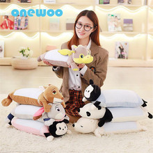 55cm Cartoon Plush Lying Rabbit Fox Dolls Pillow Super Soft PP Cotton Stuffed Polar Bear Animal Toys Sleep Cushion Plush Toys(China)