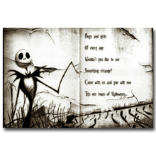 The nightmare before christmas Art Silk Poster Canvas Print 13x20 24x36inch Tim Burton Cartoon Movie Picture for Home Decor 015