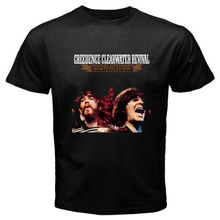 Creedence Clearwater Revival Chronicle Rock Legend Mens Black T-Shirt Size S-2XL New 2017 Hot Summer Casual T Shirt Printing(China)