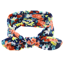 1PC Children Hair Accessories Lovely Baby Girls Kids Print Floral Bunny Rabbit Ears Hairband Toddler Turban Bow Knot Headband(China)