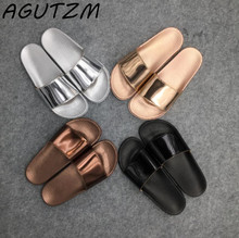 Buy Women Slides 2018 Fashion Slippers Platform Sandals Summer Bling Beach Slides Flip Flops Comfortable Flat Shoes Chaussure Femme for $7.99 in AliExpress store
