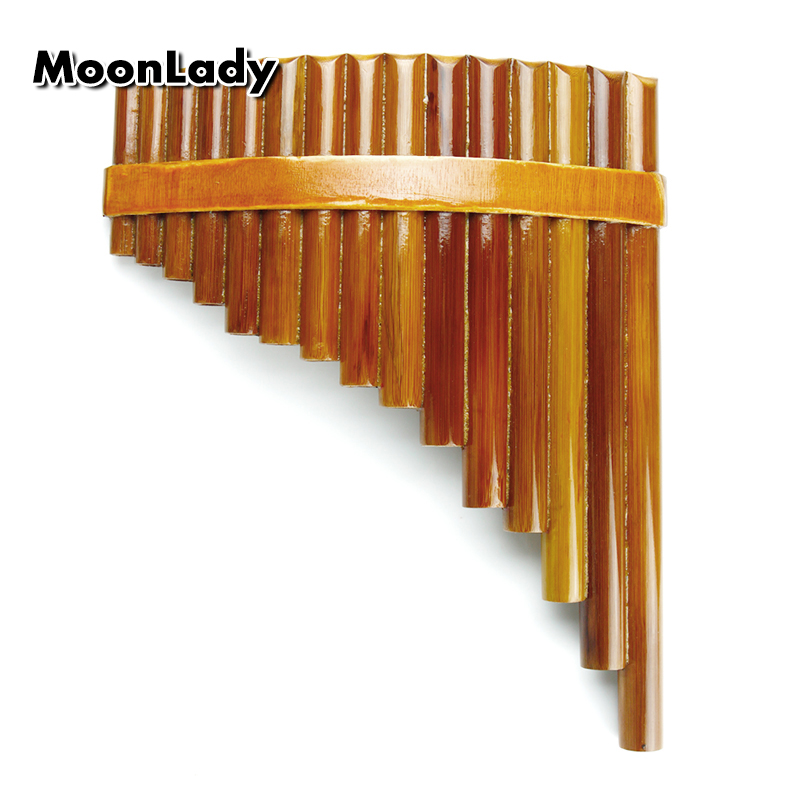 15 Pipes Natural Bamboo Chinese Folk Musical Instrument Pan Flute Wind Instrument Panpipes G Key Flauta Handmade Panflute<br>