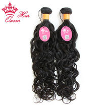 "Queen Hair Products 100% Unprocessed Indian Virgin Hair Natural Wave Natural Color 12""~28"" Indian Virgin Human Hair Extensions"