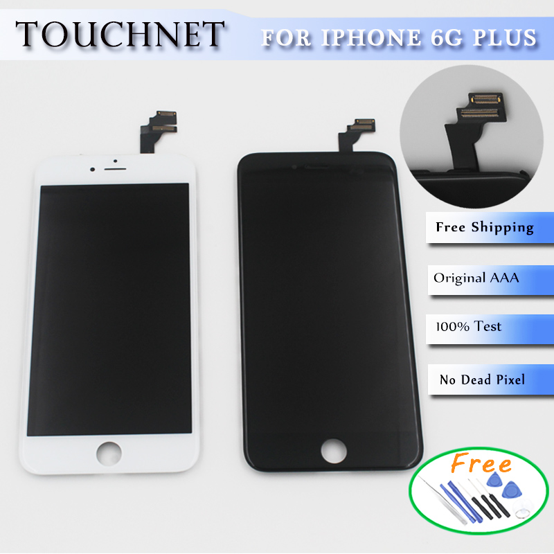 High AAA Quality  Touch LCD Screen Digitizer Assembly For iphone6 plus 5.5  Free shipping <br>
