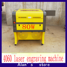 Free shipping 80w 4060 co2 laser engraving machine,220v/100v laser cutter, CNC engraveing machine,High configuration engraver