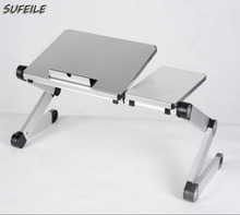SUFEILE 360 rolling Adjustable Folding Laptop Table Picnic Folding desk Laptop Table Stand Computer Notebook Bed Tray SI1D5(China)