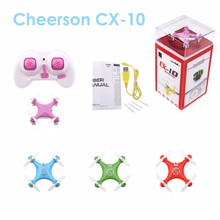 CX 10 Mini Pocket Drone 2.4GHz 4CH RC Drone Remote Control Quadcopter Helicopter Mini Drone cx10 With LED Light(China)