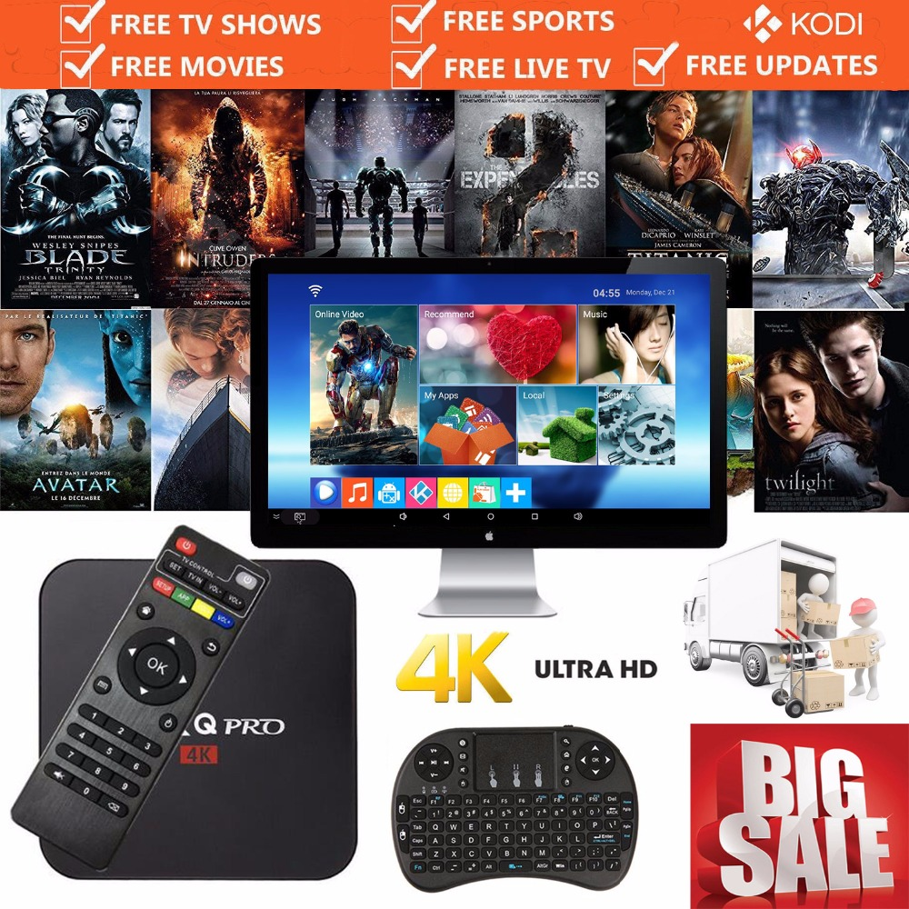 MX Pro Smart Android TV Box Quad Core Amlogic S905X Android 6.0 DDR3 1G/8G HDMI 2.0 WIFI 4K IP-TV Kodi 16.1 Fully Loaded 2017 <br>