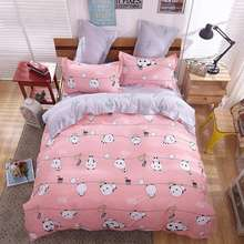 XINLANISNOW 2017 New style bedding cover bed cover bed sheet Soft and comfortable Pillowcase King Queen Full size Bedclothes