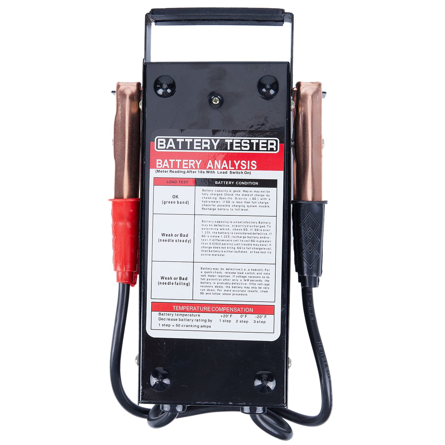 Battery Load Tester Charge Checker 6V 12V Accurate for Cars Farm Vehicles Trucks