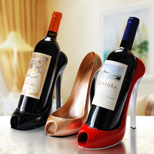 High-Heeled Shoes Resin Bottle Wine Holder Wine Rack Practical Sculpture Ornament Shelf  Tray for Party Restaurant Gift