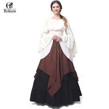 Rolecos Gothic Lolita Chiffon Dresses Women Renaissance Medieval Dresses Halloween Party Masquerade Costumes(China)