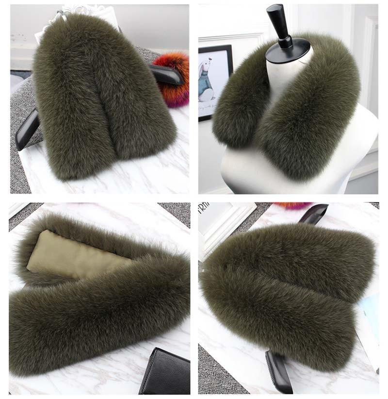fox fur collar olive green 2