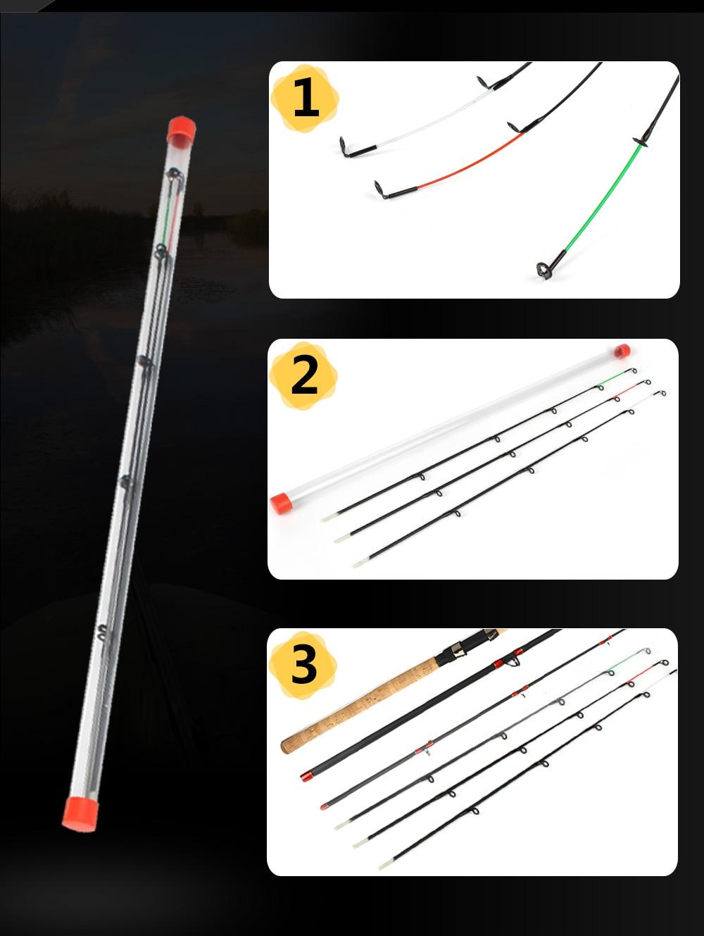 Lot de 3 Scions de rechange ou buscles en fibre de verre M/L/H 50-120g