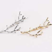 1PC New Vintage Barrettes Girls Branch Alloy Hair Clips Lady Elegance Hairpins Sliver Gold Hairgrips Hiar Accessories For Women