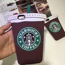 OKEECA 3D Cartoon Starbucks Coffee Cup Phone Case for iPhone 4 4s 5 5s 6 6s 6plus 6SP 7 7plus for Samsung S6 S7 S4 S5 Hot Sale