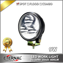 20pcs 9W work light 3x3 round led fog lamp 4x4 automotive car motorcycle ATV UTV SUV truck tractor trailer back up lamp(China)