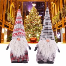 Christmas Santa Claus Dolls Standing Figurine Xmas Tree Forest Ornaments Kids Christmas Gifts Toy Home Decorations(China)