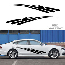 2 X Space Rapidly Falling Meteor Trace To Draw Beautiful Streak Car Sticker for SUV Camper Van Car Styling Vinyl Decal(China)