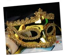 100 pieces of Halloween party crown bright half face masquerade dance performance mask(China)